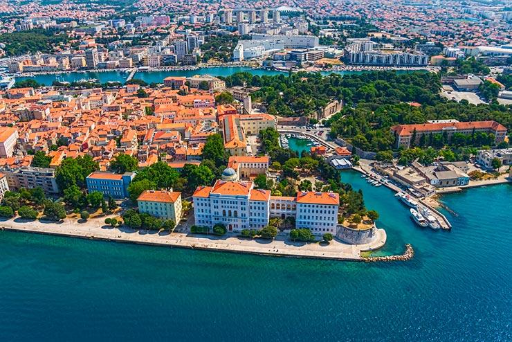 Zadar e uma das joias do Adriatico